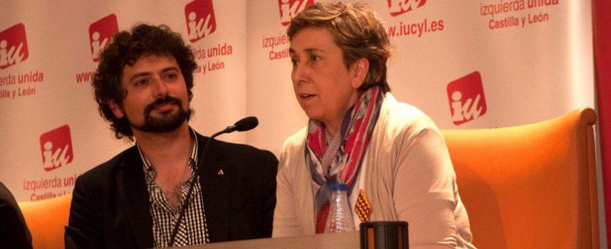 Montse Sanz recibió el apoyo de José Sarrión en su carrera a la alcaldía de Cuéllar