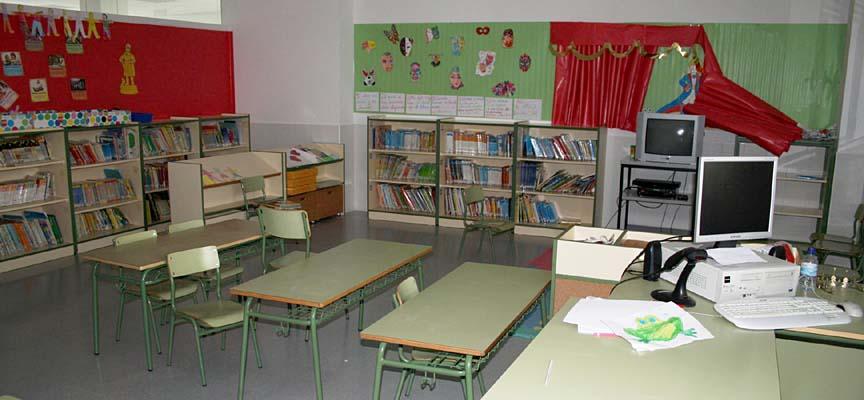 Aula de un centro escolar de la comarca.