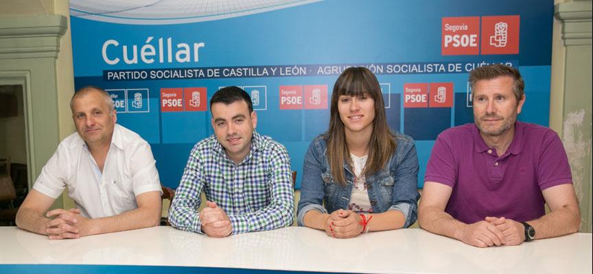 Concejales electos del PSOE en el Ayuntamiento de Cuéllar.
