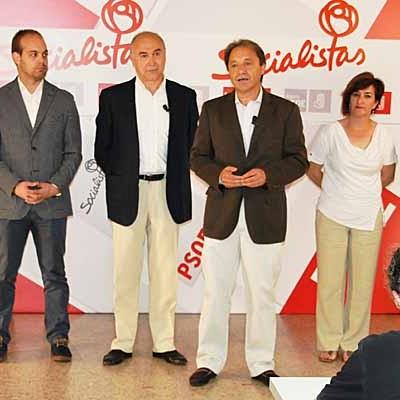 El PSOE presenta al equipo directivo del Grupo de Diputados Socialistas