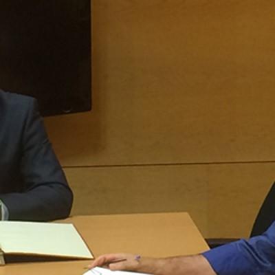 El alcalde de Cuéllar suscribe el contrato de compra de la Planta de Biomasa
