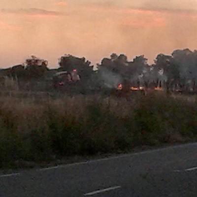 Un cigarro causa del incendio registrado ayer entre Cuéllar y Torregutiérrez