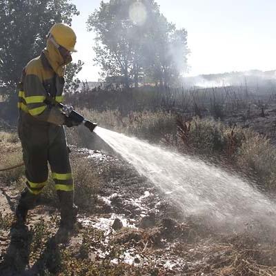 Ayer quedó extinguido el incendio de Sanchonuño cuyas causas aún se desconocen