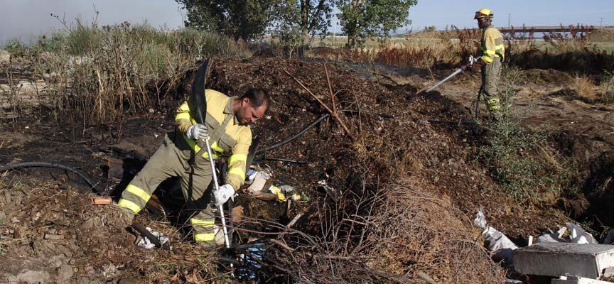 Extinción de un incendio en Sanchonuño