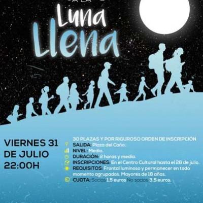 Senderismo bajo la luna llena en Nava de la Asunción