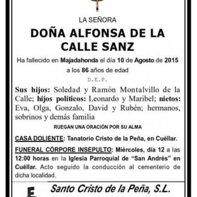 Alfonsa de la Calle Sanz