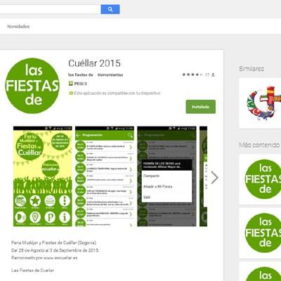 EsCuellar pone a disposición de vecinos y visitantes la App gratuita con la programación de la Feria Mudéjar y las Fiestas de Cuéllar