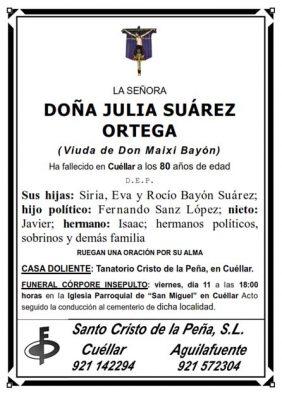 Esquela Julia Suarez_001