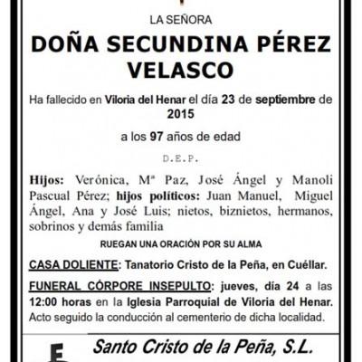 Secundina Pérez Velasco