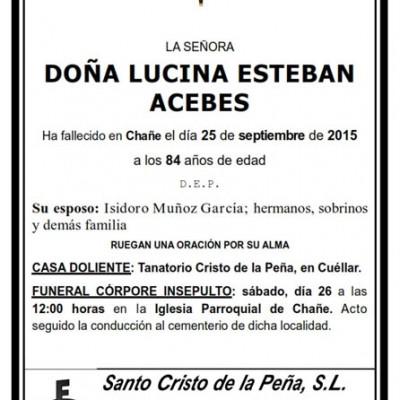 Lucina Esteban Acebes