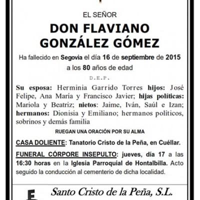 Flaviano González Gómez