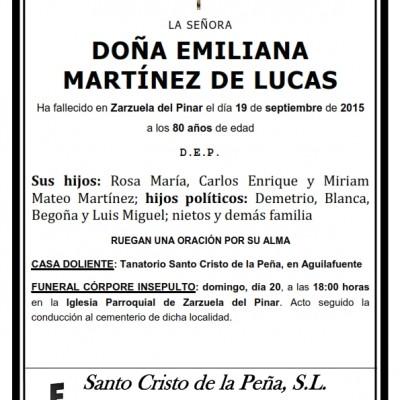 Emiliana Martínez de Lucas