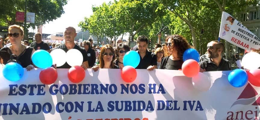 Un momento de la manifestación celebrada el domingo en Madrid.