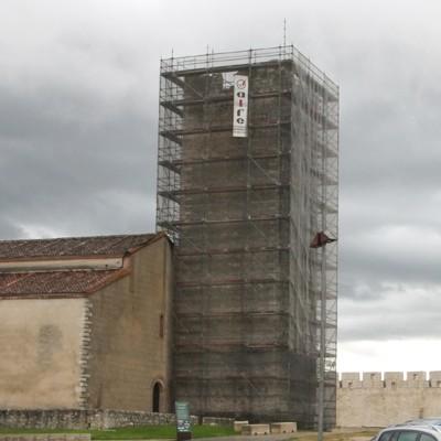 Comienzan los trabajos de restauración de la torre de la Iglesia de San Martín