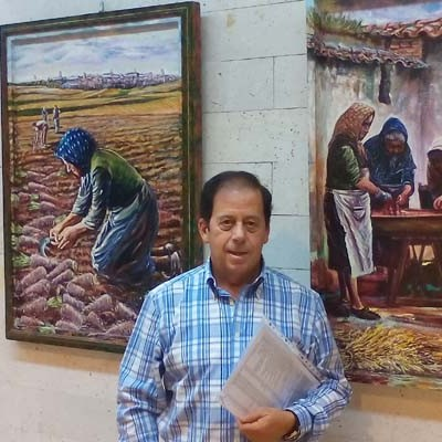 Carlos de la Rosa expone su obra en el Museo Provincial del Vino en el Castillo de Peñafiel