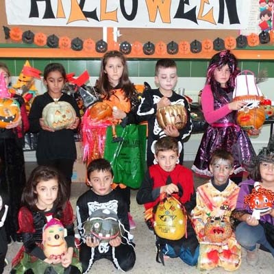 Calabazas por Halloween en el Colegio San Gil