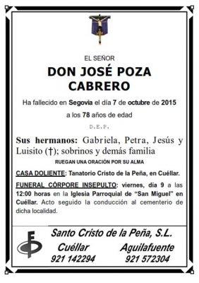 Esquela Jose Poza