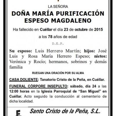 María Purificación Espeso Magdaleno
