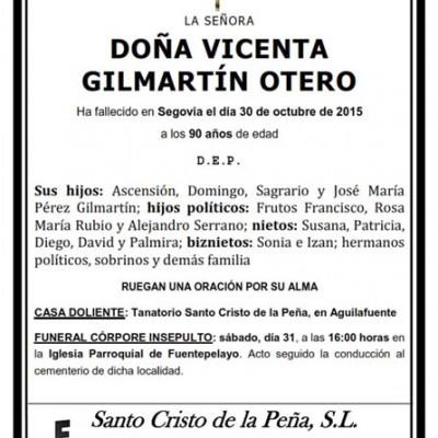 Vicenta Gilmartín Otero