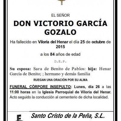 Victorio García Gozalo