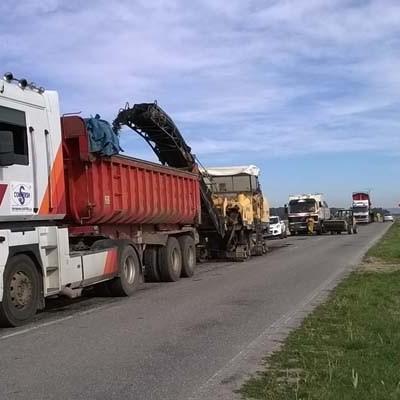 Comienzan las obras de refuerzo del firme de la carretera de Chañe a Fresneda de Cuéllar