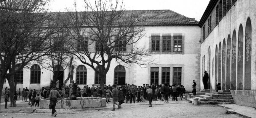 Imagen antigua del Colegio de La Villa.