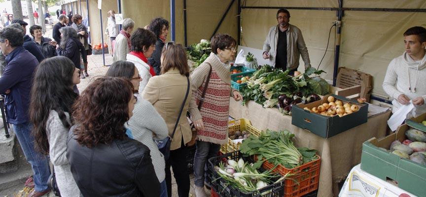Los Paseos de San Francisco acogieron una nueva edición del Mercado Ecológico.