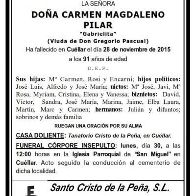 Carmen Magdaleno Pilar