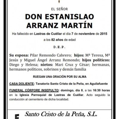 Estanislao Arranz Martín