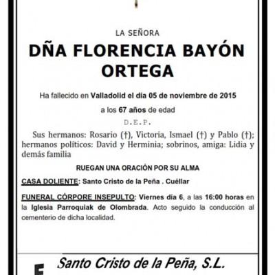 Florencia Bayón Ortega