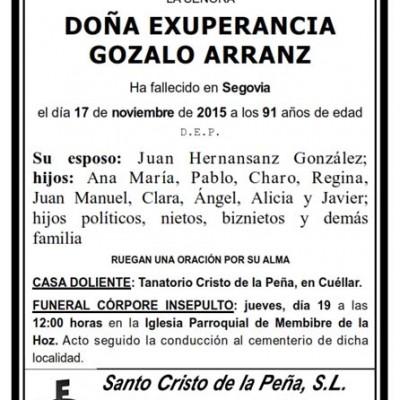 Exuperancia Gozalo Arranz