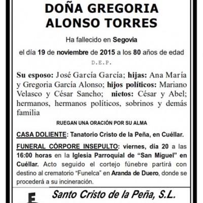 Gregoria Alonso Torres