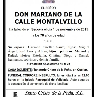 Mariano de la Calle Montalvillo
