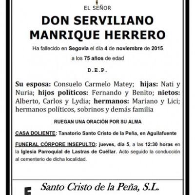 Serviliano Manrique Herrero