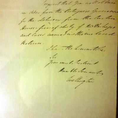 La carta que Lord Wellington escribió desde el Castillo de Cuéllar en 1812