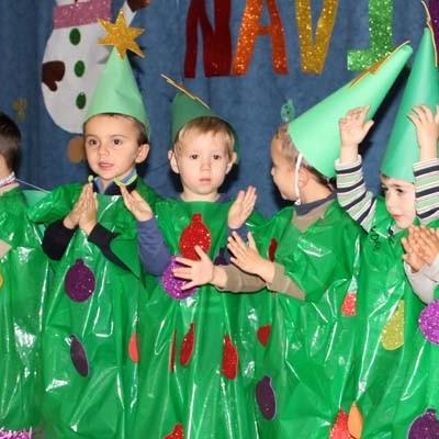 La Navidad llegó a los colegios de Cuéllar