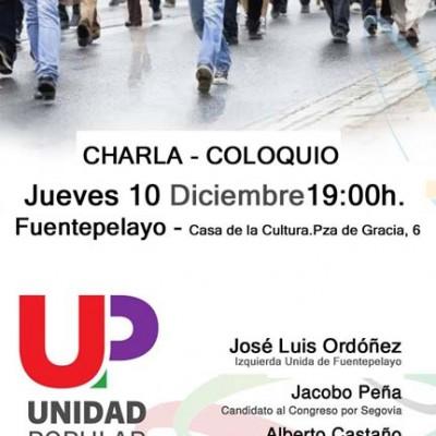 Unidad Popular celebra hoy un acto electoral en Fuentepelayo