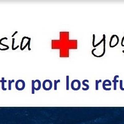 Cruz Roja y Festeamus suman poesía y yoga a favor de los refugiados
