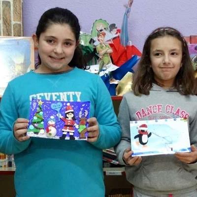 Haizea Martín ganadora del concurso de postales navideñas del colegio San Gil