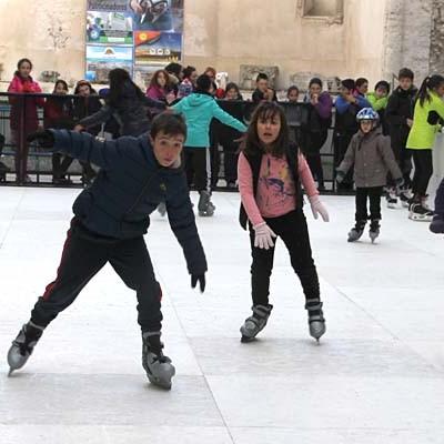 Navidad sobre patines en Cuéllar