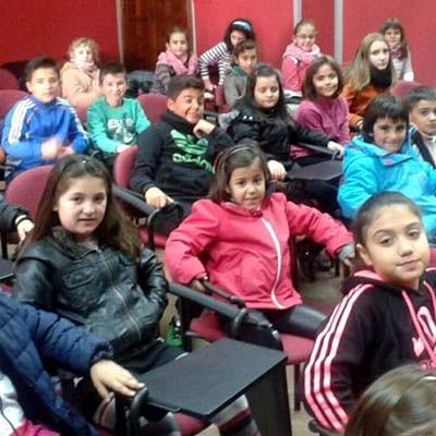 Los alumnos del colegio San Gil celebraron la Constitución visitando el Ayuntamiento