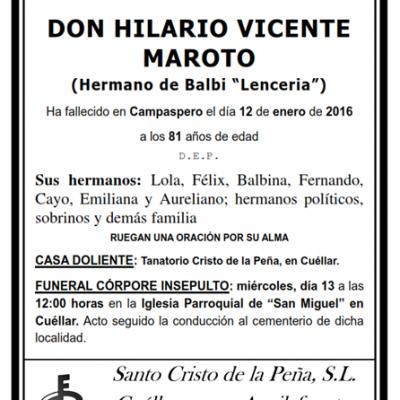 Hilario Vicente Maroto