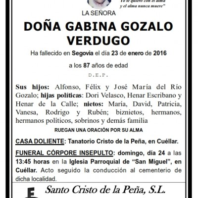 Gabina Gozalo Verdugo