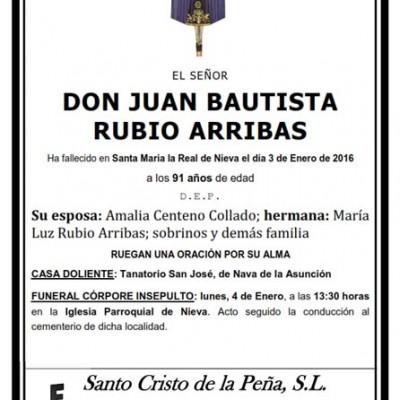 Juan Bautista Rubio Arribas