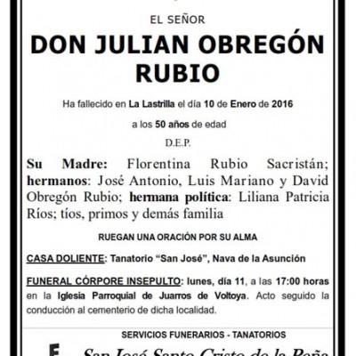 Julián Obregón Rubio