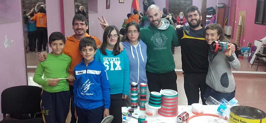 Participantes en una de las actividades desarrolladas en la Casa Joven.