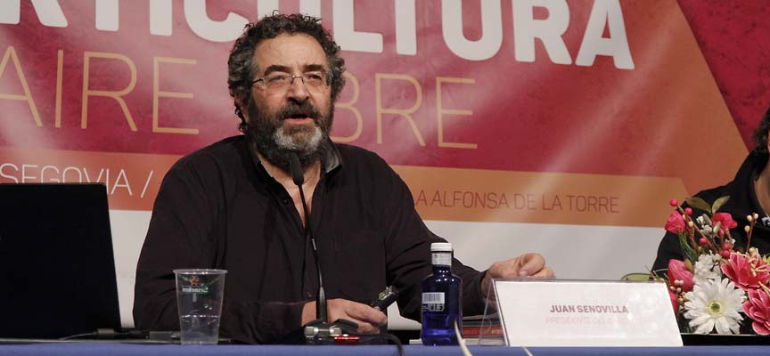 Juan Senovilla durante su intervención en el congreso de Horticultura al Aire Libre.