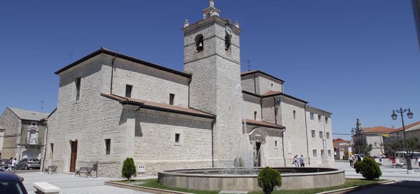 Plaza de la iglesia de Campaspero.