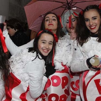 Lluvia y nieve para recibir al carnaval en Cuéllar