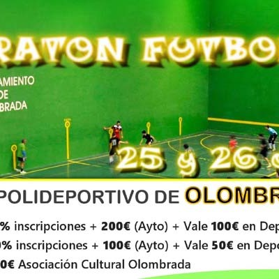 Olombrada celebra el III Maratón de Fútbol de Sala